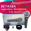 Upgrade Version BETA 58A !! Wholesale 10PCS Super-Cardioid Wired Stage Handheld Karaoke Dynamic Microphone Mic BETA58 Beta 58 A