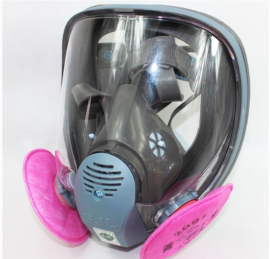 SJL 6800 Gas Mask Full Face Facepiece Respirator Suit Painting Spraying sjl painting spraying respirator gas mask same for 3 m 6800 gas mask full face facepiece laboratories dust mask respirator