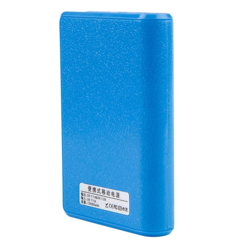 4X18650 Cargador de Batería de Reserva Externa del Banco de Potencia Dual USB Ca