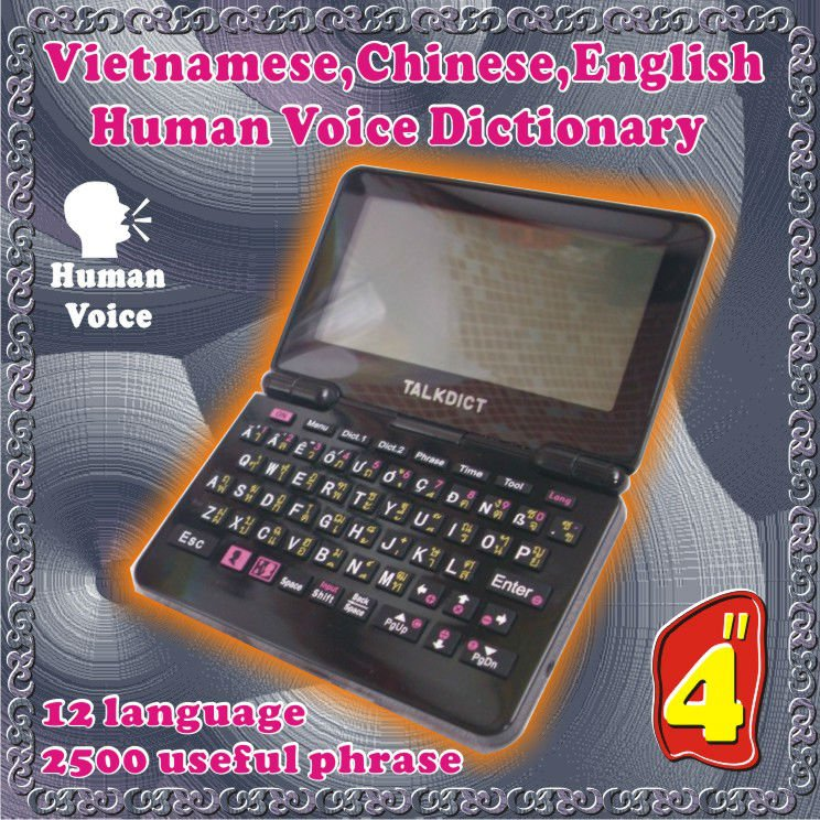 Electronic Dictionary English Honorable Vietnamese Conversation Sound Emits Twelve-Country