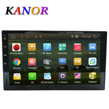 KANOR Android 6.0 no car dvd player gps navigation universal car gps radio video player 2 din multimedia Autoradio Stereo WIFI