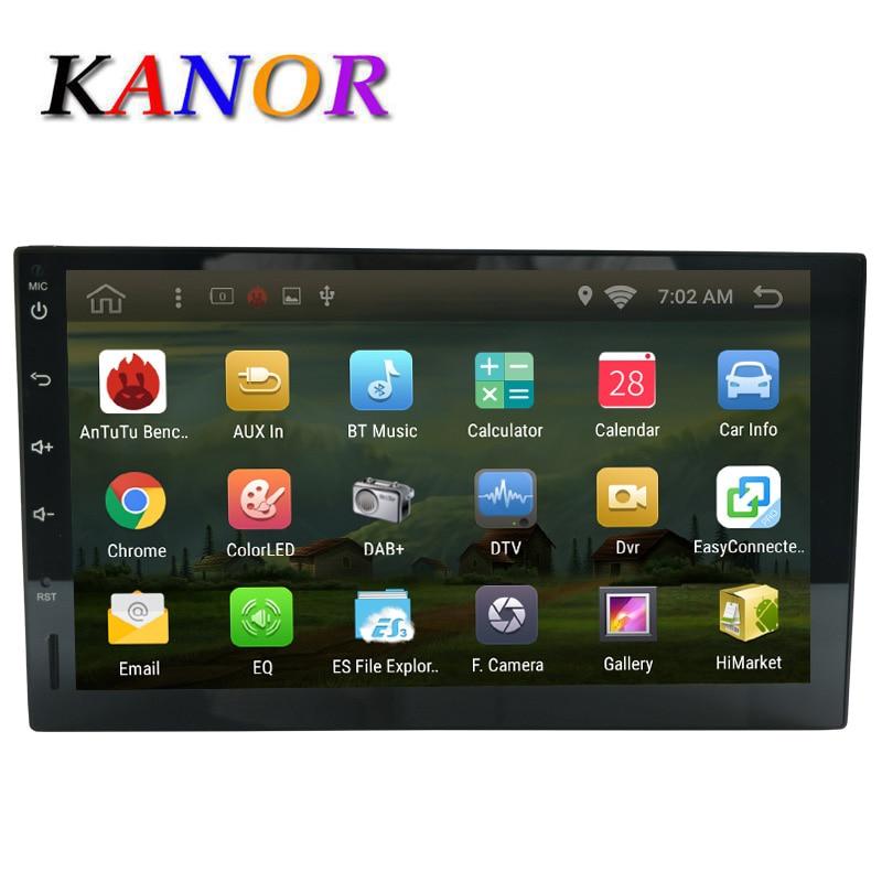 Kanor Android 6.0 без dvd-плеер автомобиля gps-навигация Универсальный Автомобильный GPS Радио Видео плеер 2 DIN мультимедийный Авторадио Стерео WI-FI