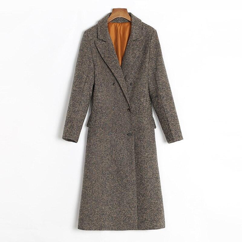 La Mode 2018 H368 black Blazer Longue Hiver Et Tranchée Les Ioqrcjv Tops Taille Manteau En Pour Laine gray Automne Femelle Mince Veste Femmes Plus Coffee 1wqzgvIxC