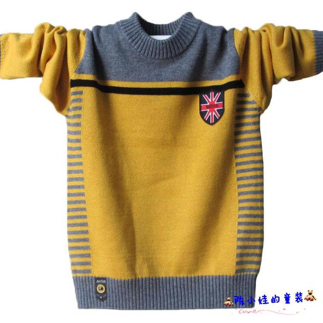 Boy sweater Dongkuan round neck sweater big virgin adolescent children knit pullover shirt