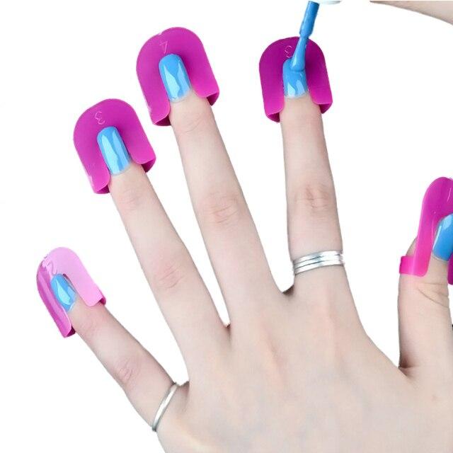 MANZILIN 26pcs/set UV Gel Nail Art Protector Stencils Creative Nail ...