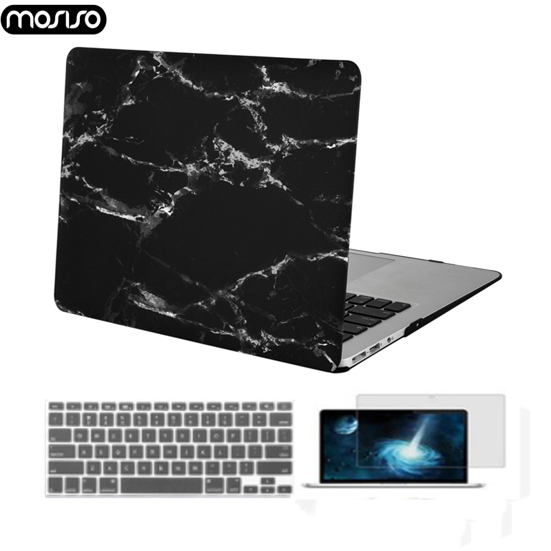 Image 1 - MOSISO 2019 Hot Sale Marble Pattern Laptop Case For Apple MacBook Pro Retina 13 15 Hard Case For MacBook 12 inch +Keyboard Cover-in Laptop Bags & Cases from Computer & Office