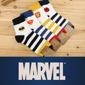 37-43 MARVEL Heroes logo Socks MAN striped sox boyfriend Spiderman superman batman ironman Seasons DC Comics Socken Calcetines