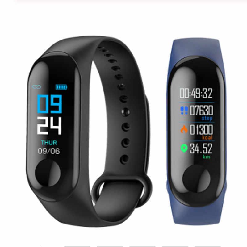 LYKRY M3 115plus 116plus Bracelet intelligent Sport montre Fitness Tracker couleur affichage montre intelligente hommes femmes fréquence cardiaque pression artérielle