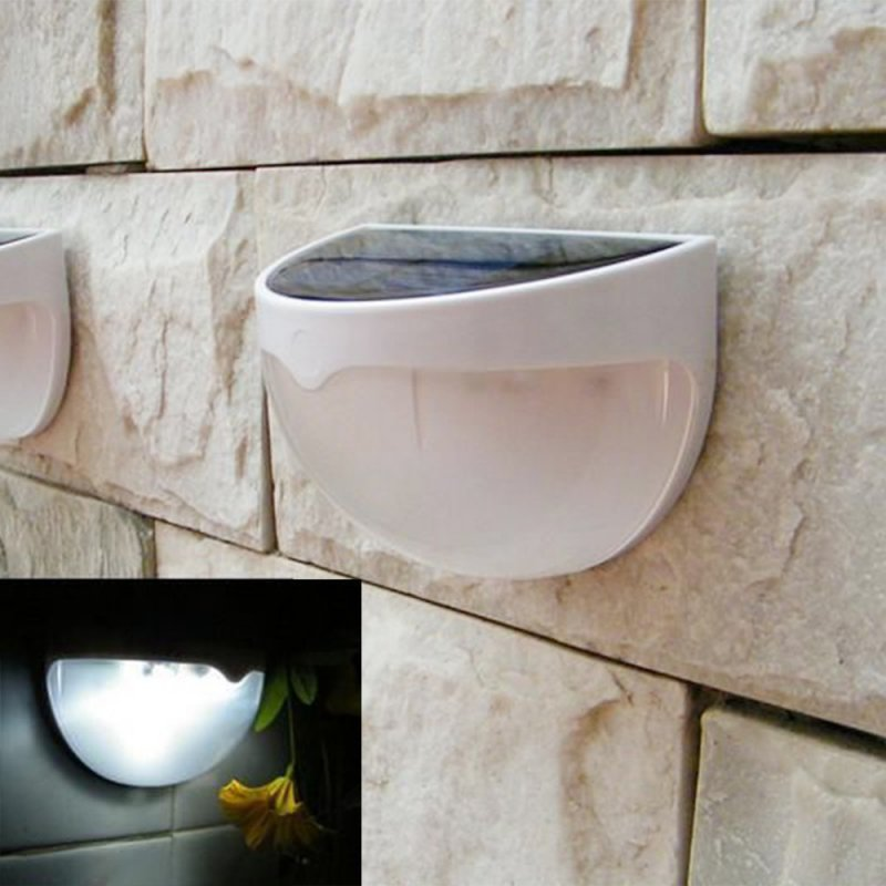 Hight Quality 6 LED Garden Light Solar led Panel Lamp Sensor Waterproof mounted Outdoor Fence Wall Lamp Lighting