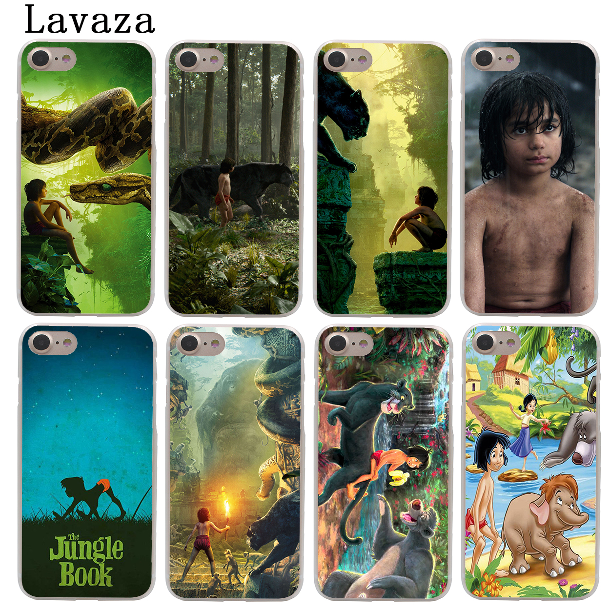 Lavaza The Jungle Book Hard Fashion Phone Skin Shell Case for Apple iPhone X 10 8 7 6 6S Plus 5 5S SE 5C 4 4S Cover