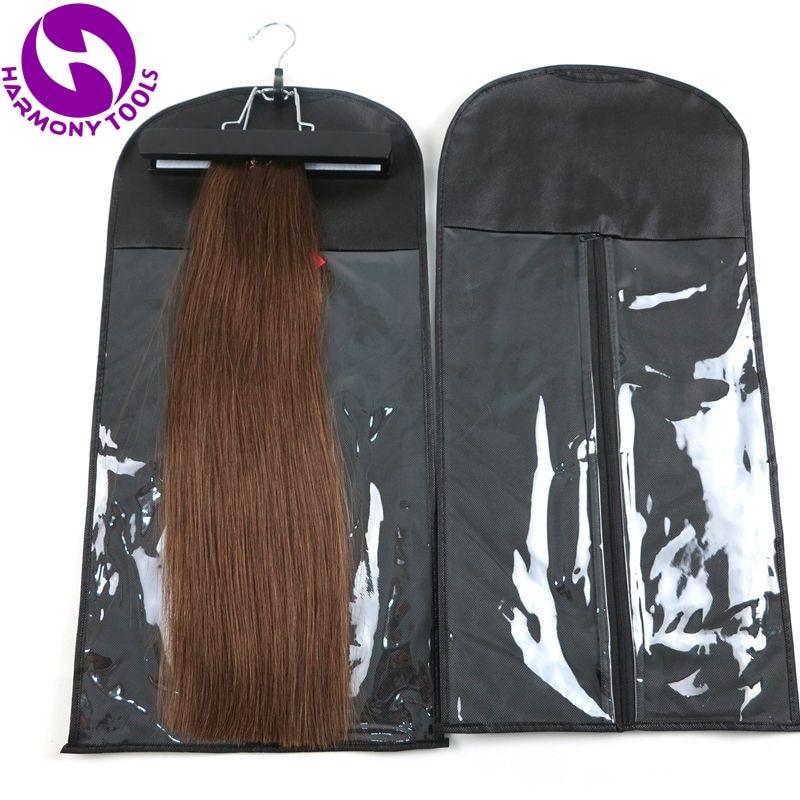 1 Qara, Çəhrayı, Ağ Saç Uzantıları Saxlama Çantası Parik Asma Saç Dartma Paketi Saç Düyün Uzantıları üçün Çanta Çantası