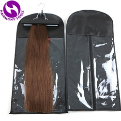 1 Set Schwarz, Rosa, weiß Haar Extensions Lagerung Tasche Perücke Aufhänger Haar Extensions Paket Anzug Fall Taschen Für Haar Schuss Extensions