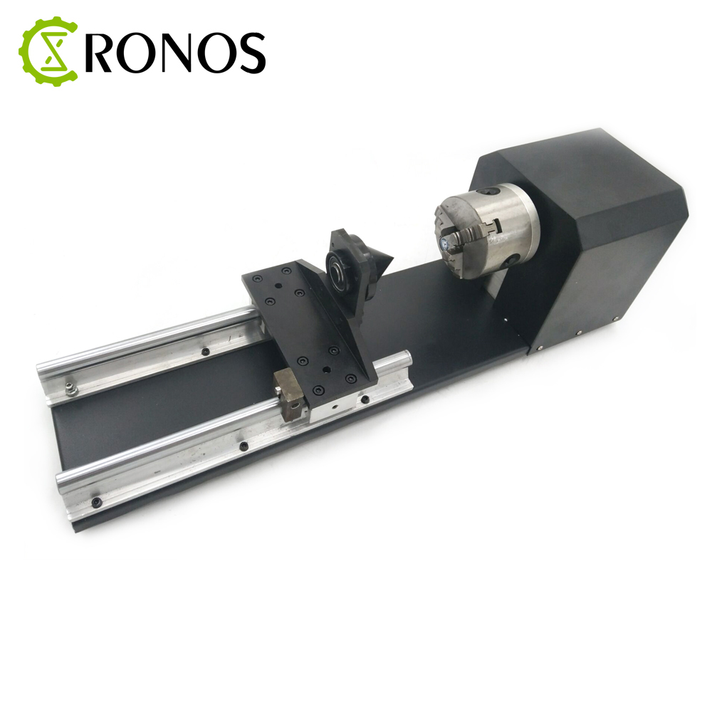 CNC Router Roller Rotation Axis Chuck Rotary with 3 Phase Stepper Motor 80mm Tailstock A Axis