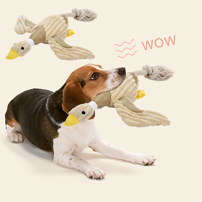 Tireless Dog Chew Toys For Small Large Dogs Bite Resistant Dog Squeaky Duck Toys Interactive Squeak Puppy Dog Toy Pets Supplies Dog Toys Home & Garden