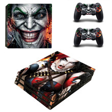 Cool Joker Harley Quinn PS4 pro Skin Sticker For Sony Playstation 4 Promotion Console & 2Pcs Controller Protection Film