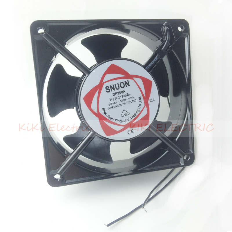 Aluminum Alloy 12cm Fan  Long Life Ball Bearing Airflow Fan AC220V Cooling Equipment Work With Temperature Controller