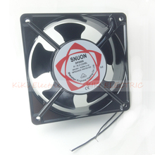 Aluminum Alloy 12cm Fan  Long life Ball Bearing Airflow Fan AC220V Cooling Equipment work with temperature controller XF1232ASH red light temperature controller xmpa 9121 ac220v