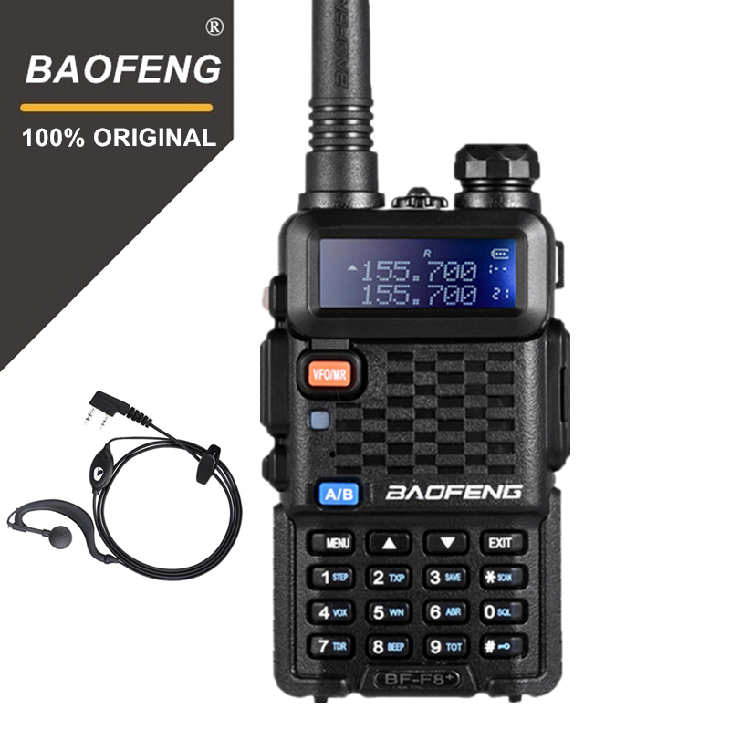 100% Original BaoFeng F8+ Upgrade Walkie Talkie Police Two Way Radio Pofung Dual Band Outdoor Long Range VHF UHF Ham Transceiver-in Walkie Talkie from Cellphones & Telecommunications