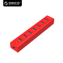 ORICO Excessive Pace 7 Port USB three.zero HUB USB Splitter  With 5V2A Energy Adapter  – Pink  H7013-U3-AD