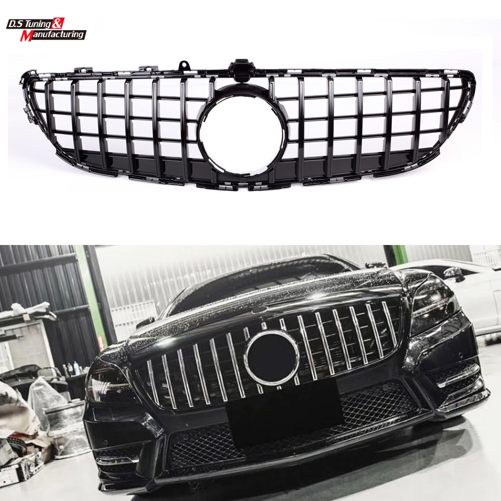 GT Vertical Style Grills For Mercedes Benz CLS Class W218 Sedan Auto Front Grille CLS300 CLS350 CLS450 CLS500 2015 2018