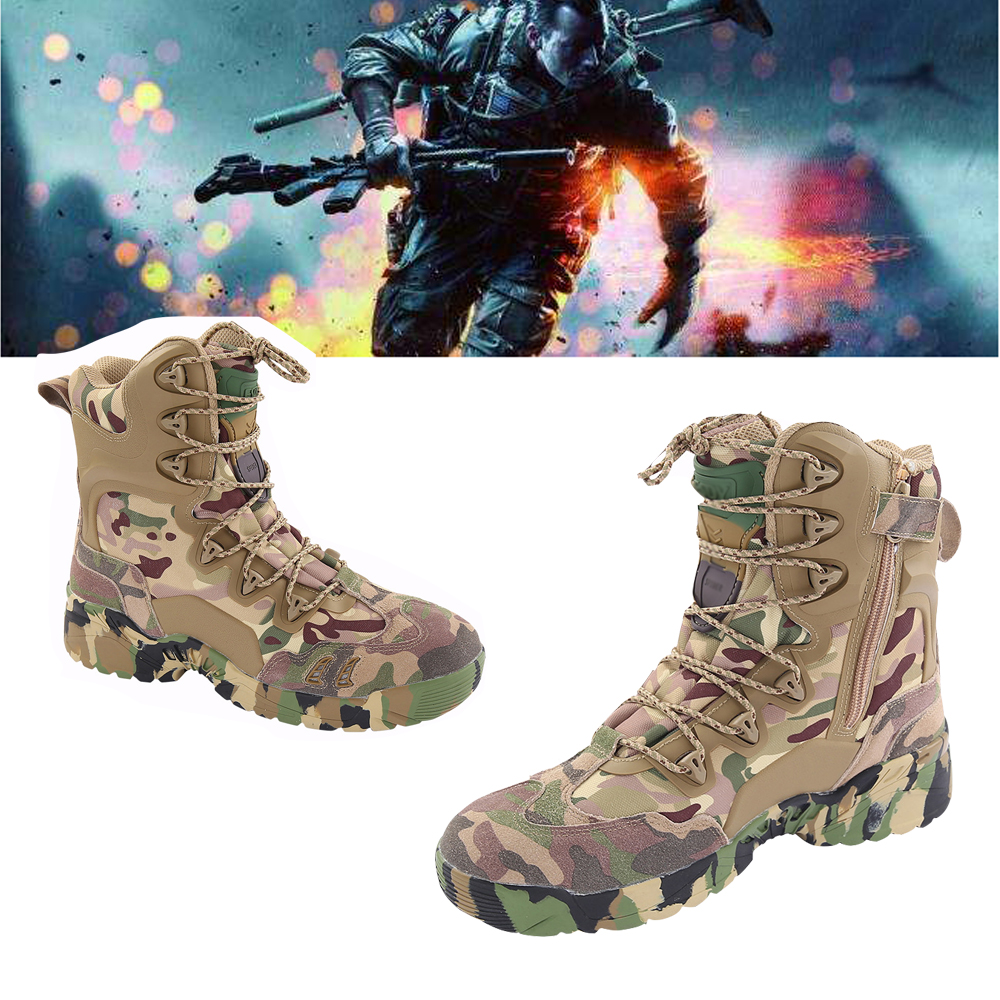 Hot! Men Military Combat Tactics Desert High Shoes Outdoor Hiking Mountain Airsoft Paintballt SWAT Special War Camouflage BootsHot! Men Military Combat Tactics Desert High Shoes Outdoor Hiking Mountain Airsoft Paintballt SWAT Special War Camouflage Boots