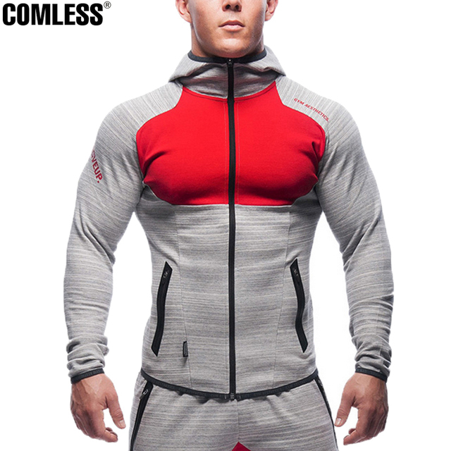 Hot 2016 New Shark High Elasticity Hoodie Brand-clothing Hoodies Men Embroidery Tracksuit Bodybuilding Fitness Sportwear M-XXL
