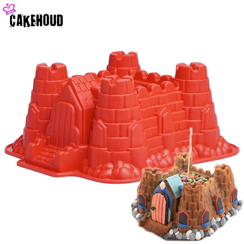 CAKEHOUD Nou 1 PC creativ mare de tort de ziua de nastere Castelul Mold DIY pâine de coacere Instrumente unt de toamna mucegai Bakeware articole de bucătărie