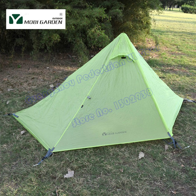 Mobi Garden Pyramid Tent Mountain Wing Outdoor Ultralight 2 Person Two  Layer 3 Seasons Silicon Coating