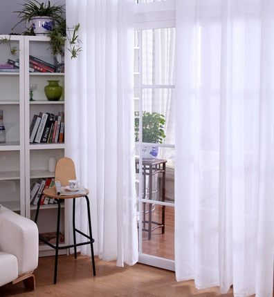 270cm high highgrade finished window screens white linen curtains for kitchen window curtain living room