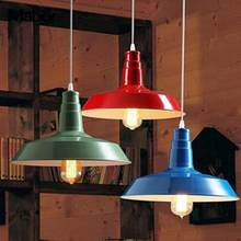 AC110-220V E27 Industrial Retro Vintage Pendant Lamp Kitchen Bar Hanging Ceiling Light 7080HC Modern simple Lamp Bar Home(China)