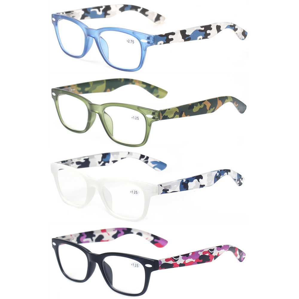 4 Pack Lesebrille Stilvolle Entwickelt Männer Und Frauen Frühling Scharnier Mit Blume Design Brillen Presbyopie Brille Von Der Konsumierenden öFfentlichkeit Hoch Gelobt Und GeschäTzt Zu Werden