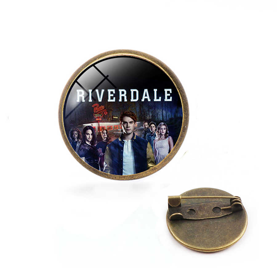 High quality TV series jewelry Riverdale Glass gems Pins Brooch Lapel Pin Button Clothes Bag Badges Avengers 3 Thanos pin