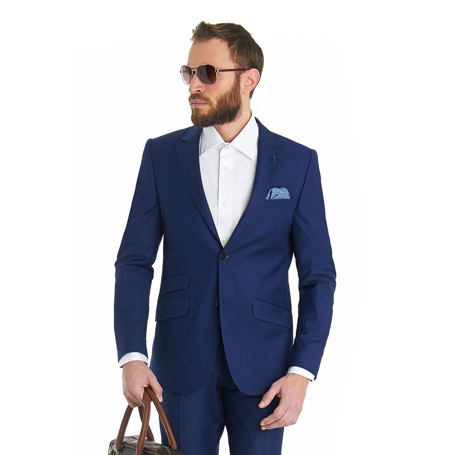 Funky Blue Prom Tuxedos Crest - Wedding Dress Ideas - itemver.info
