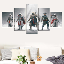 Home Decor 5 Piece Print Decoration Picture Poster Canvas Painting Assassin Creed Multiple Connor War 3 Wall Art Frame все цены