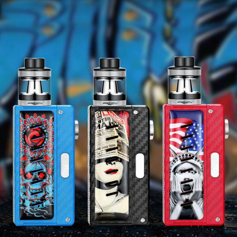 E-XY 100W Charm Night Electronic Cigarette Kit atomizer core 0.3ohm LED 510 Box Mod Vapor Vaporizer