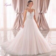 Liyuke 2019 Wedding Dress Ball Gown Lace Appliques