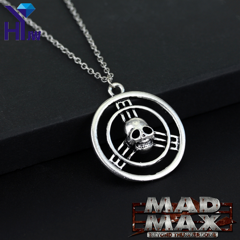 HEYu Movie Mad Max Fury Road War Immortan Joe Burning Skull Gang Worship Inspired Faction Hollow Logo Pendant Necklace Jewelry