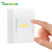 Ultra Bright Magnetic Mini COB LED Wall Light Night Lights Camp Lamp Battery Operated with Switch Magic Tape for Garage Closet(China)