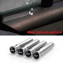 Автомобильный Универсальный алюминиевый сплав дверь Фиксатор двери тяга кепки Автоматическая блокировка дверей pin-код