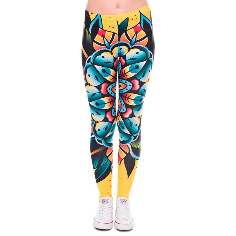 Frauen 3D tattoo blume Leggings Frauen/Mädchen Lustige Dünne Leggings Jeggings Hosen Grundlegende Beiläufige Leggins Weibliche Freie Größe Legg-in Leggings aus Damenbekleidung bei  Gruppe 2