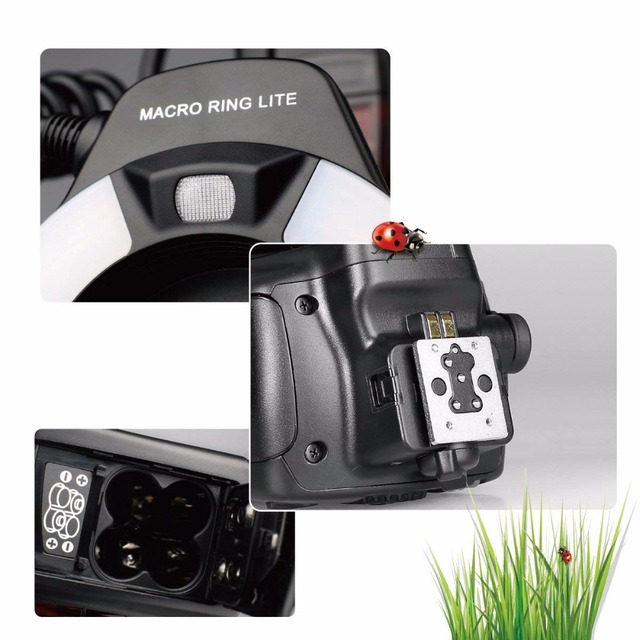 Meike MK-14EXT i-TTL Macro Ring Flash for Nikon D7100 D7000 D5200 D5100 D5000 D3200 D3100 D90 D300S D600 with LED AF Assist Lamp