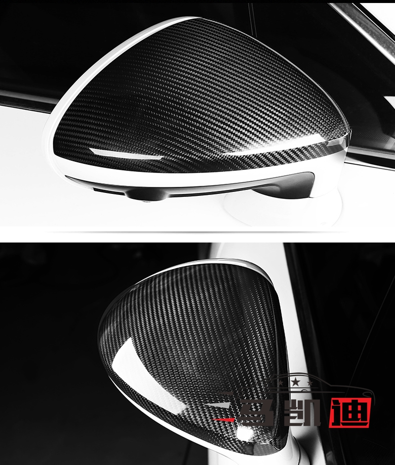 Real Carbon Fiber Rearview Mirror Cover For Porsche Panamera 970 2014-2016 LHD