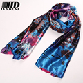 Brand Silk Scarf 2016 Spring New Floral Print Women Designer Scarfs Winter Polyester Infinity Long Silk Scarves For Women