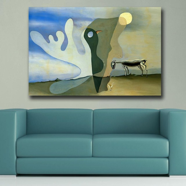 Abstract art The Spectral Cow Salvador Dali Canvas Painting For Living Room Home Decor Oil Painting On Canvas Wall Painting 1