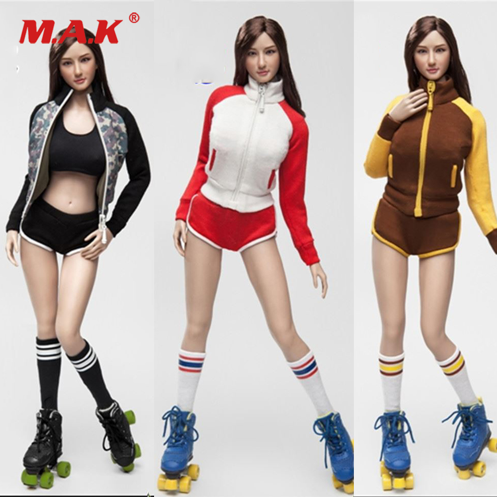Sexy 1:6 Female Figure Clothes Accessory FGC2017 Roller Girl Female Character Clothes Set with Head Model for 12'' Female Body fgc2017 39 40 41 1 6 scale sexy female clothes roller girl head and clothing set for 12 ph doll action figure