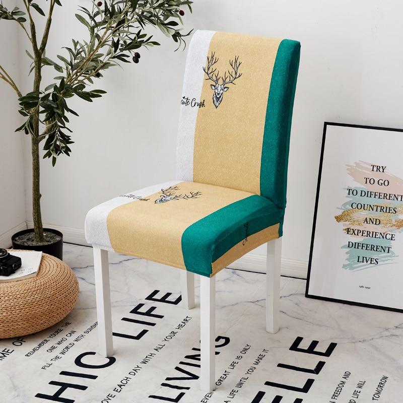 Image 3 - Parkshin мода перо съемный стул крышка большая эластичная Modern современный чехол для кухонного стула чехлы на кресла стрейч для банкета-in Чехлы на стулья from Дом и животные