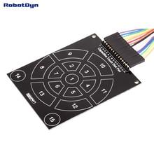 Емкостный сенсорный диск для емкостного модуля. 15 клавиш
