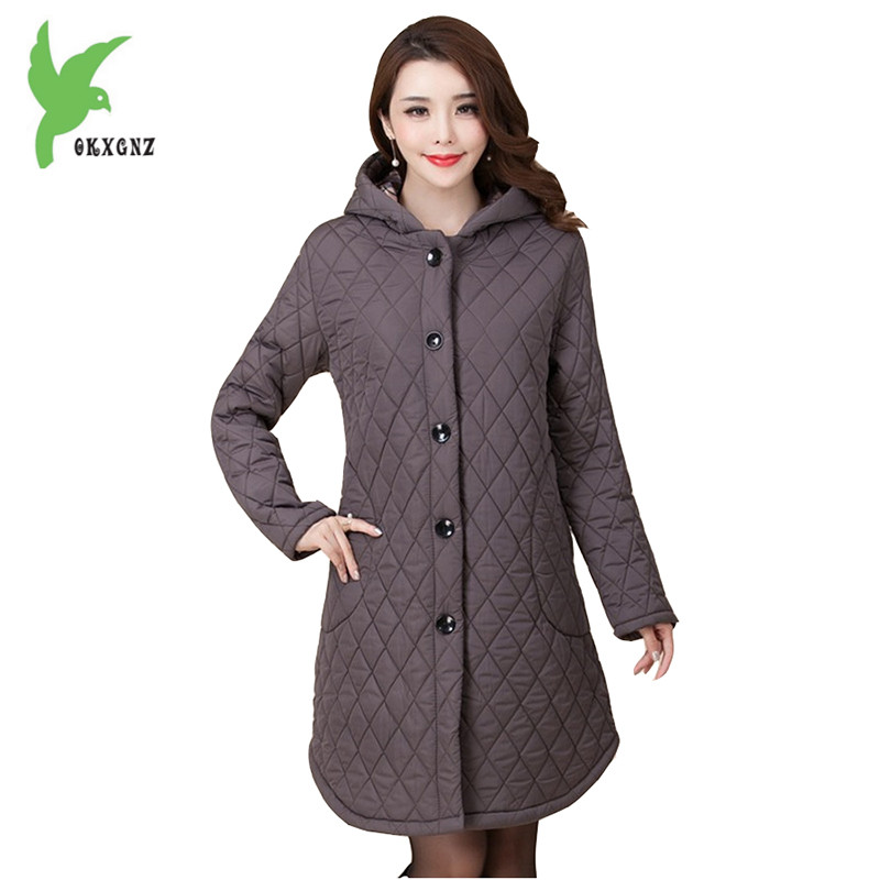 New Winter Middle age Down Cotton Coats Female Costume Solid Color Hooded Casual Tops Plus Size Loose Slim Mother Coat OKXGNZ831 short down cotton coats 2017 winter fashion solid color hooded casual costume keep warm tops plus size slim jackets okxgnz a819
