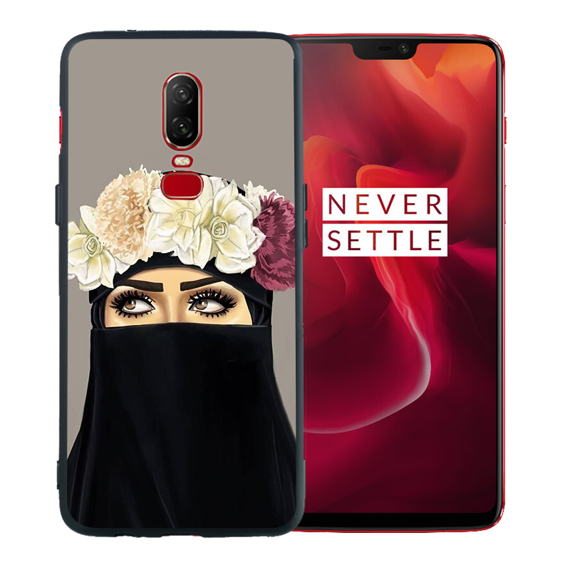 Queen Hijab Girl Muslim Islamic Gril Eyes Arabic Coque For Oneplus 7 Pro Case 6T 6 5 5T Black Soft Silicone TPU Cover Etui Funda in Fitted Cases from Cellphones Telecommunications