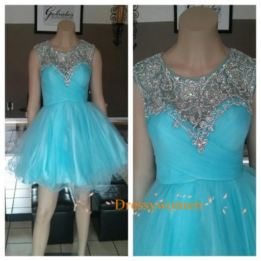 2015 Sweet Gorgeous A Line Scoop Beading Applique Organza Homecoming font b Dresses b font font